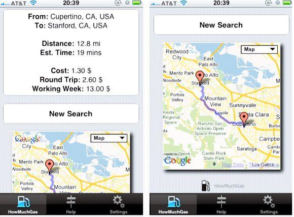 existem aplicativos do iPhone para verificar os preços do gás?