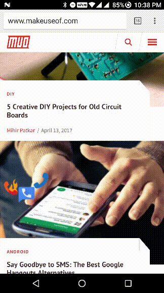 Recentes Android e botão home