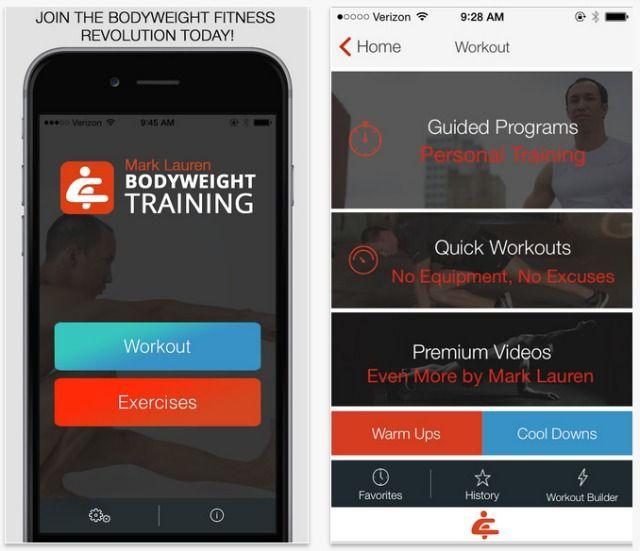 Peso corporal Formação aplicativo