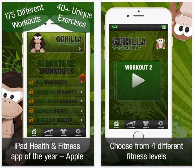 aplicativo Workout Gorilla