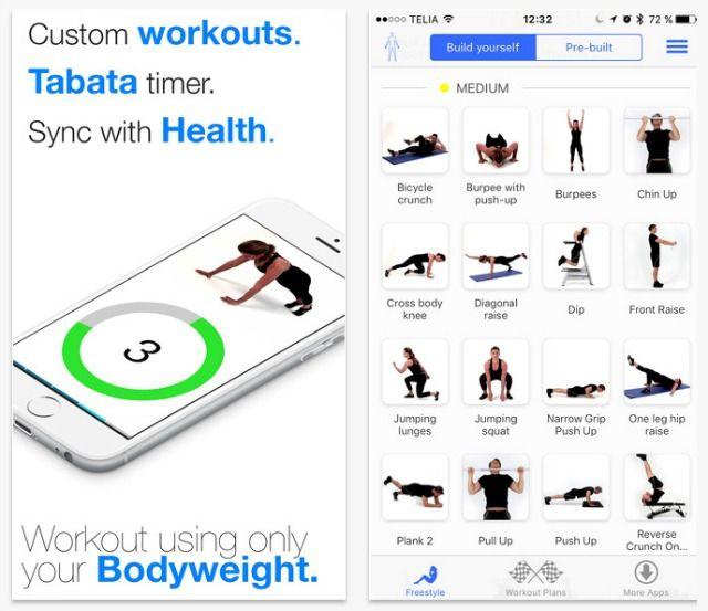 Virtual aplicativo instrutor Bodyweight