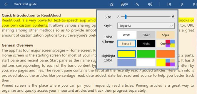 readaloud janelas aplicativo