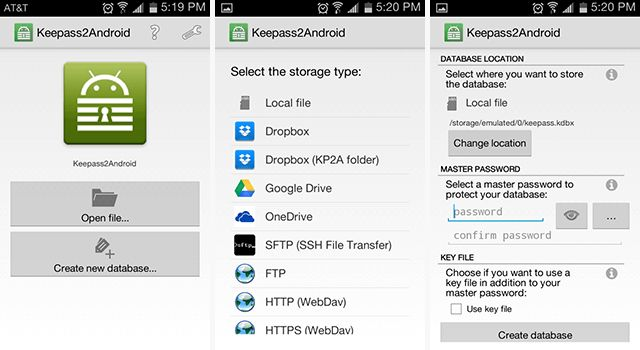 -password-gestores android-KeePass
