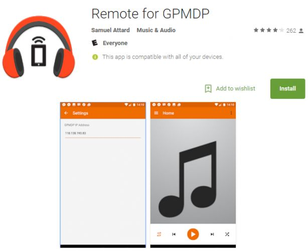Google Play Music Desktop Player aplicativo remoto