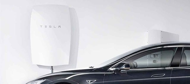 Tesla Powerwall e S Modelo