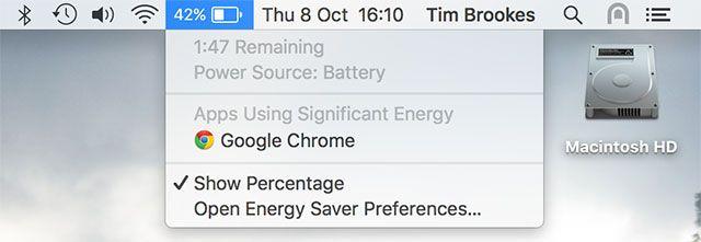 Apps usando energia significativa