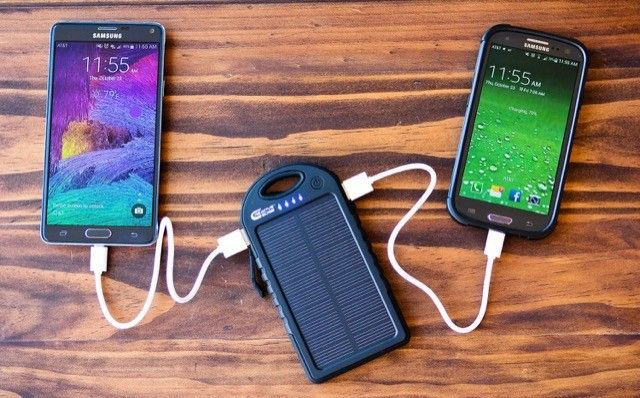 Carregador solar criativo Borda