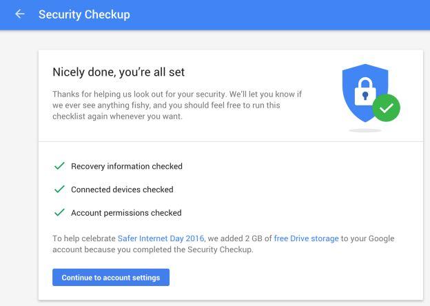 Verificação de segurança Google