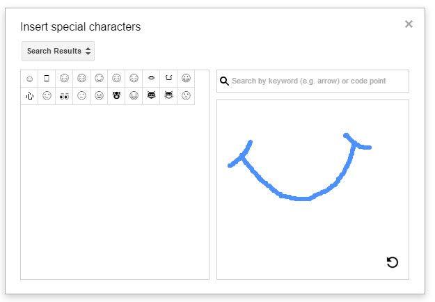 Google Drive - inserir caracteres especiais