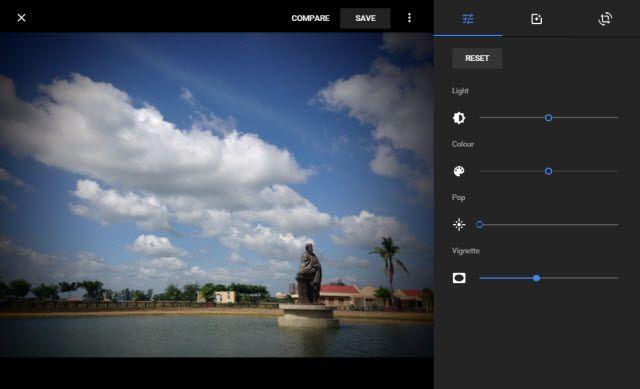 Editar com o Google Fotos