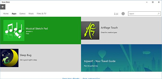 Windows 10 loja Beta
