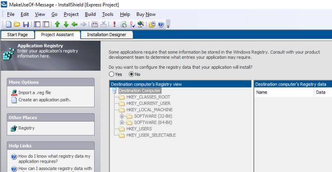 Registro pacote installshield software anatomia