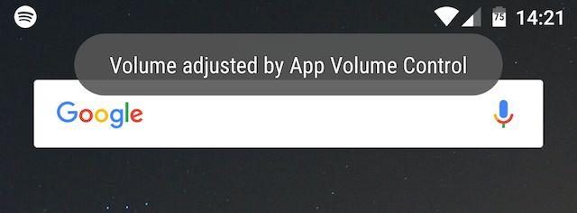 o volume ajustado