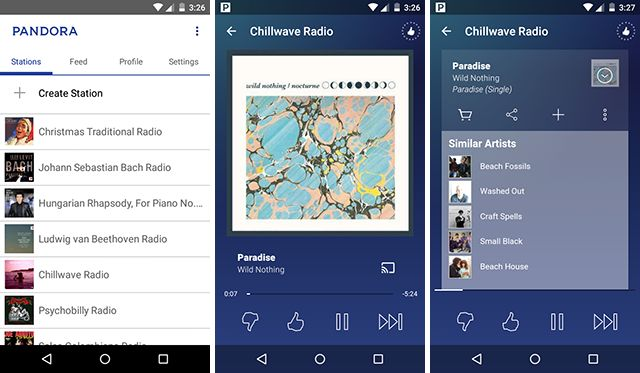 best-android-streaming-app-pandora