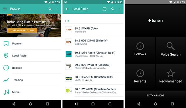 best-android-streaming-app-TuneIn rádio