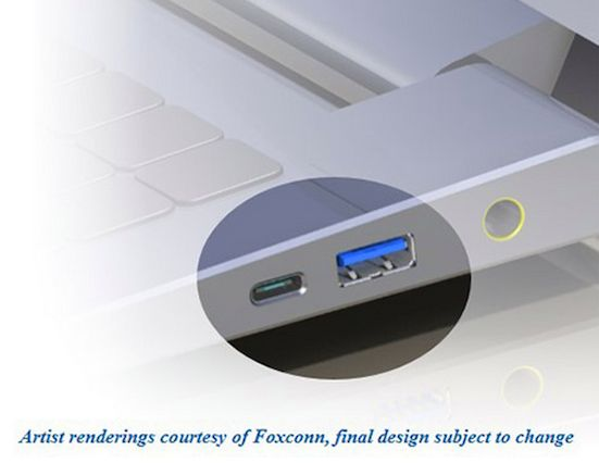 USB do tipo-C-porta