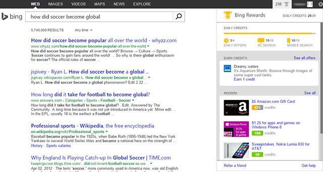 Bing-recompensas-visão geral do painel