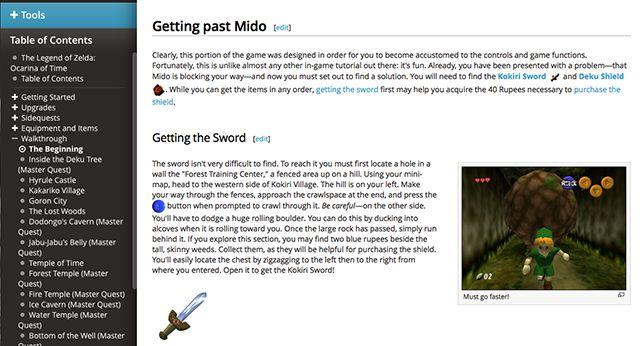 estratégia de wiki-zelda