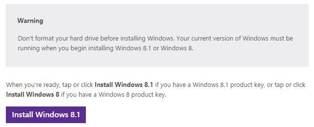 Arquivos do Windows 8.1 Instalação