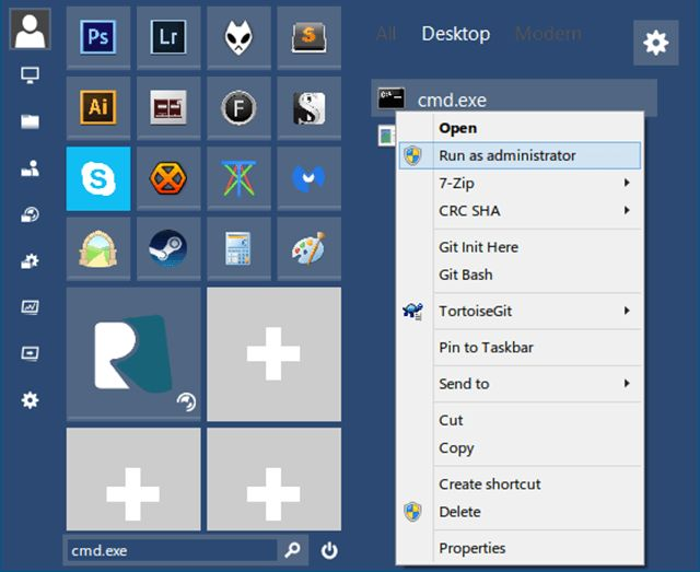 windows-administrador-conta-start menu